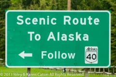 The intersection of Trans-Canada 16 and Alberta 40