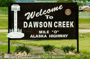 Start of the Alaska Highway