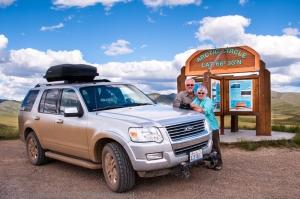Stopped at the Arctic Circle, Yukon